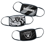 Las Vegas Raiders Youth Face Coverings (Pack of 3)
