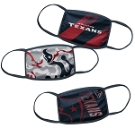 Houston Texans Youth Face Coverings (Pack of 3)