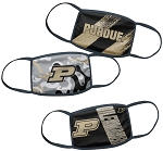 Purdue Boilermakers Youth Face Coverings (Pack of 3)