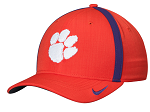 Clemson Tigers Sideline Coaches Flexible Cap by Nike (Orange)
