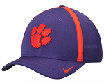 Clemson Tigers Sideline Coaches Flexible Cap by Nike (Purple)