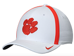 Clemson Tigers Sideline Coaches Flexible Cap by Nike (White)