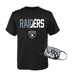 Las Vegas Raiders Youth T-Shirt and Face Covering Set