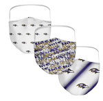 Baltimore Ravens Women's Face Coverings (Adult Size) (Pack of 3)
