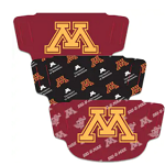 Minnesota Gophers Adult Face Coverings (Pack of 3)