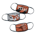 Texas Longhorns Youth Face Coverings (Pack of 3)