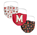 Maryland Terrapins Face Coverings (Adult Size) (Pack of 3)