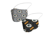 Green Bay Packers Camo Face Coverings (Adult Size)(Pack of 2)