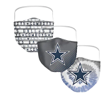 Dallas Cowboys Adult Face Covering  (Pack of 3)