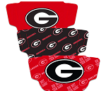 Georgia Bulldogs Face Coverings (Adult Size) (Pack of 3)
