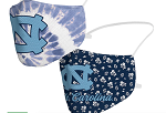 North Carolina Tar Heels Tie-Dye & Floral Face Covering (Adult Size) (Pack of 2)