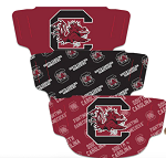 South Carolina Gamecocks  Adult Face Coverings (3 Pack)