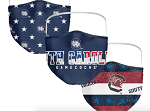 South Carolina Gamecocks Patriotic Face Covering (Adult Size) (Pack of 3)