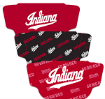 Indiana Hoosiers Face Coverings (Adult Size) (Pack of 3)