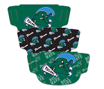 Tulane Green Wave Face Covering (Adult Size) (Pack of 3)
