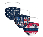 Tennessee Titans Patriotic Face Covering (Adult Size) (Pack of 3)