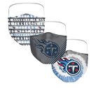 Tennessee Titans Face Covering (Adult Size) (Pack of 3)