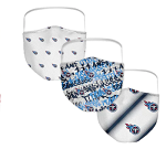 Tennessee Titans Women's Face Covering (Adult Size) (Pack of 3)