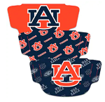 Auburn Tigers Face Covering (Adult Size) (Pack of 3)