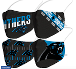 Carolina Panthers Adult Size Face Coverings (4 Pack)