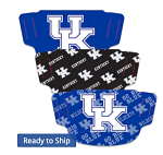 Kentucky Wildcats Logo Face Coverings (Adult Size) (Pack of 3)