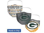 Green Bay Packers Face Covering (Adult Size) (Pack of 3)