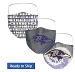 Baltimore Ravens Face Coverings (Adult Size) (Pack of 3)
