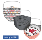 Kansas City Chiefs All Over Logo Face Coverings (Adult Size)(Pack of 3)