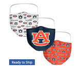 Auburn Tigers All-Over Logo Face Covering (Adult Size) (Pack of 3)