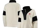 Ohio State Buckeyes Women's Half-Zip Jacket (Black/White)