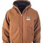 Green Bay Packers Dakota Hoodie Full-Zip Jacket (Tan)
