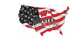 Wisconsin Badgers USA Flag Cutout Sign