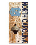 North Carolina Tar Heels Distressed Bottle Opener