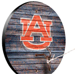 Auburn Tigers Weathered Design Key Chain Holder / Hook & Ring Game