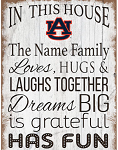 Auburn Tigers Personalized  'In This House' Sign (11