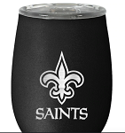New Orleans Saints Stainless Steel Stemless Wine Tumbler