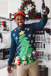 Men's Christmas Tree with Beer Holsters Ugly Christmas Sweater