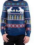 Men's Polar Bear Party Ugly Christmas Sweater