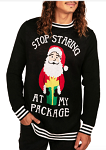 Men's Stop Staring Ugly Christmas Sweater