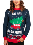 Men's Go Big or Go Home Ugly Christmas Sweater