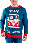 Men's Peace On Earth Ugly Christmas Sweater