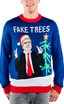 Men's Fake Trees Ugly Christmas Sweater