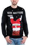 Men's Size Matters Ugly Christmas Sweater
