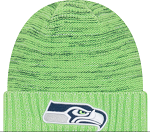 Seattle Seahawks Sideline Official Sport Knit Hat - Neon Green
