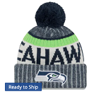Seattle Seahawks Sideline Official Sport Knit Hat w/Pom