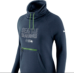 Seattle Seahawks Nike Women's Tri-Blend Modern Funnel Hoodie - Navy