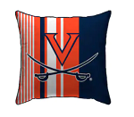Virginia Cavaliers Large Stripe Decorative Throw Pillow (18