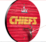 Kansas City Chiefs SB LIV Champs Weathered Design Key Chain Holder / Hook & Ring Game