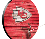Kansas City Chiefs Weathered Design Key Chain Holder / Hook & Ring Game