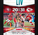 KC Chiefs Framed Super Bowl LIV Champions Team Collage (15